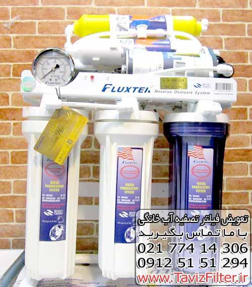 نمایندگی خرید فروش قیمت تعویض فیلتر دستگاه تصفیه آب خانگی فلوکستک Fluxtek فولوکس فلوکس تک Flux Tek