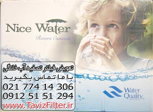 خرید فیلتر دستگاه تصفیه آب خانگی نایس واتر